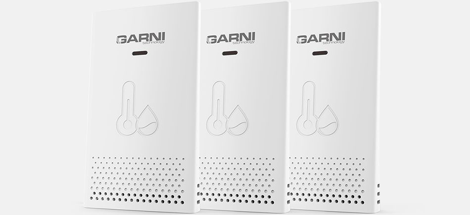 Temperature and relative humidity data from up to 3 locations GARNI 610 Precise